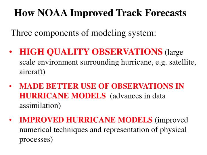 How NOAA Improved Track Forecasts