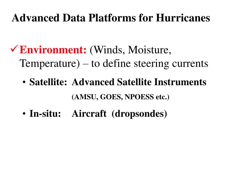 Advanced Data Platforms for Hurricanes