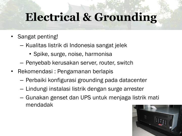 Electrical & Grounding