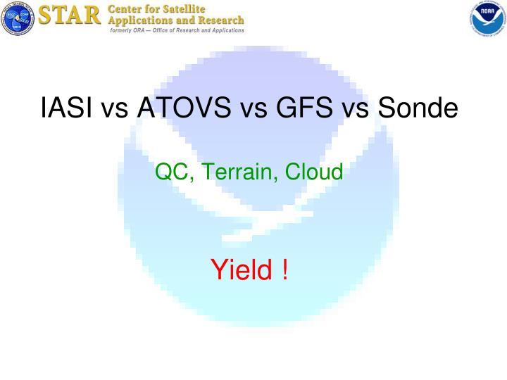 IASI vs ATOVS vs GFS vs Sonde