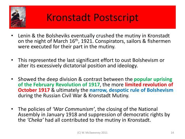 Kronstadt Postscript