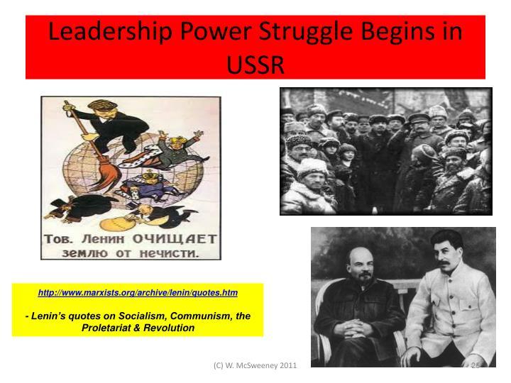 Leadership Power Struggle Begins in USSR