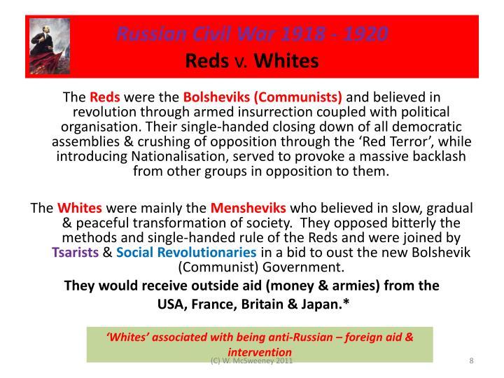Russian Civil War 1918 - 1920