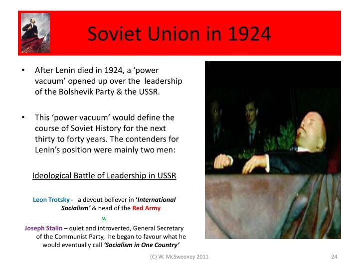 Soviet Union in 1924