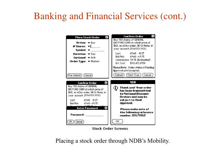Banking and Financial Services (cont.)