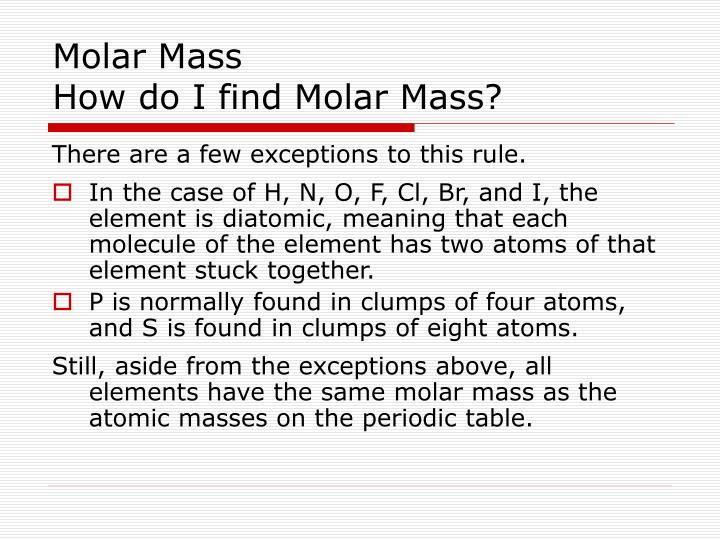 The need for calculating the molar mass of NaCl or any other compound