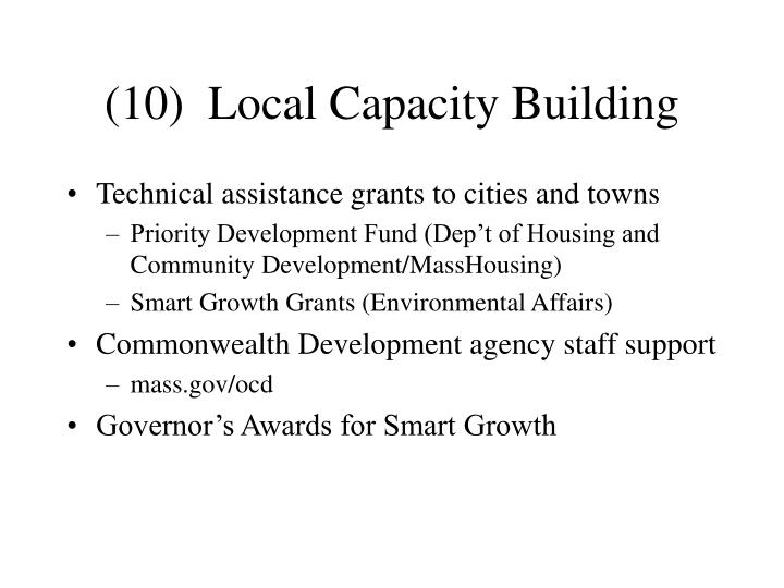 (10)  Local Capacity Building