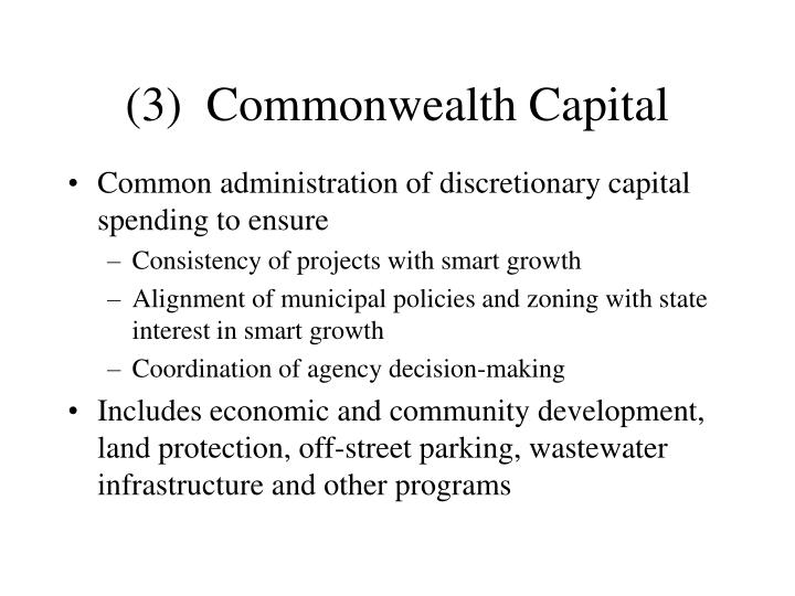 (3)  Commonwealth Capital