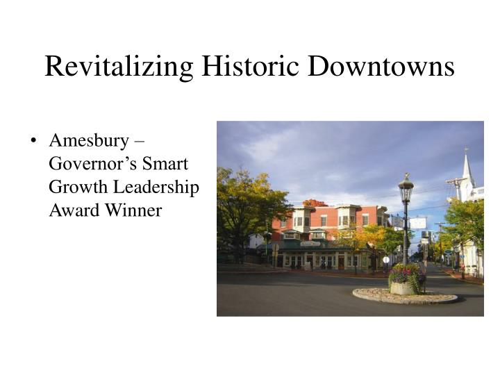 Revitalizing Historic Downtowns