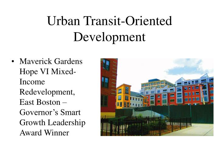 Urban Transit-Oriented Development