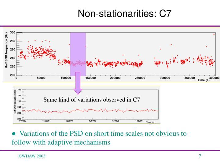 Same kind of variations observed in C7