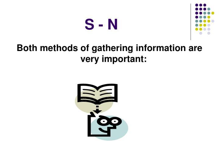 S - N