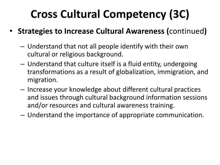 cross cultural awareness Crossculture is richard lewis communications' new brand for its cultural division we help you know culture for better business by embedding awareness, knowledge and.