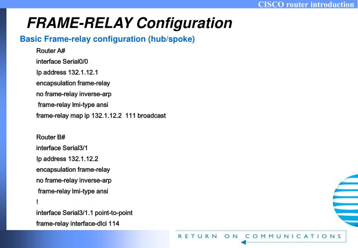 FRAME-RELAY Configuration