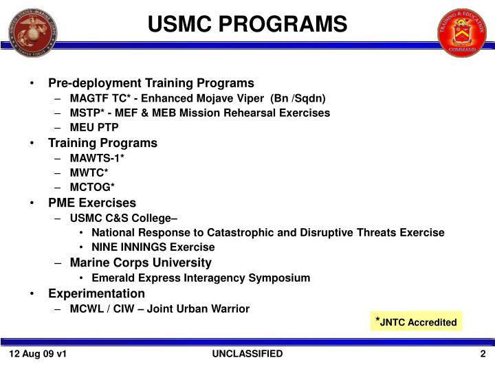 USMC PROGRAMS