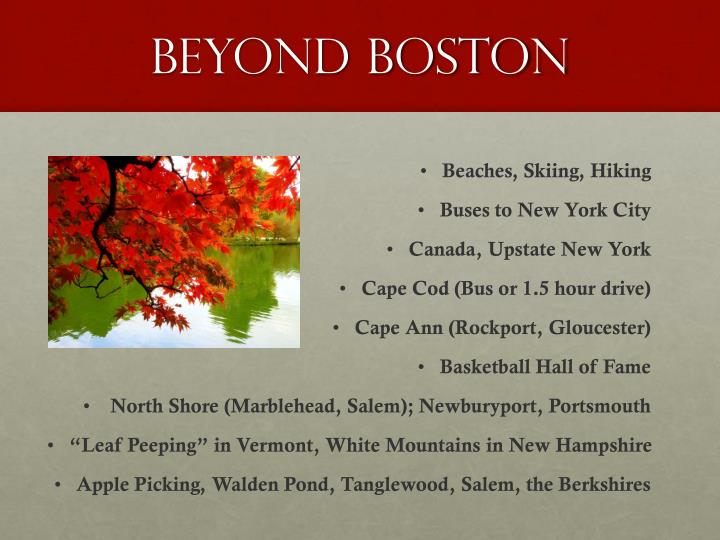 Beyond Boston