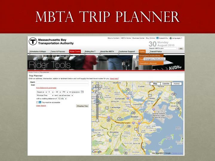 MBTA trip planner
