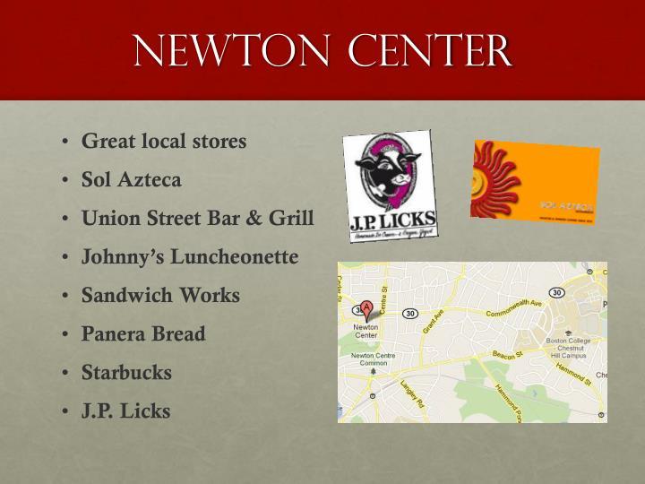 Newton Center