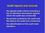 audit reports and records4