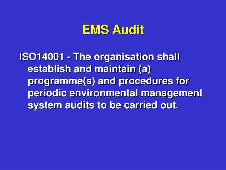 EMS Audit