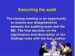 executing the audit10