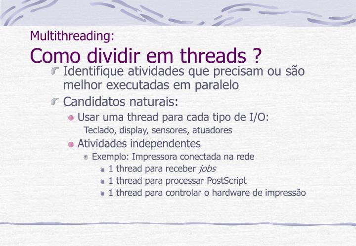 Multithreading:
