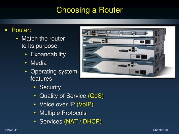 Choosing a Router