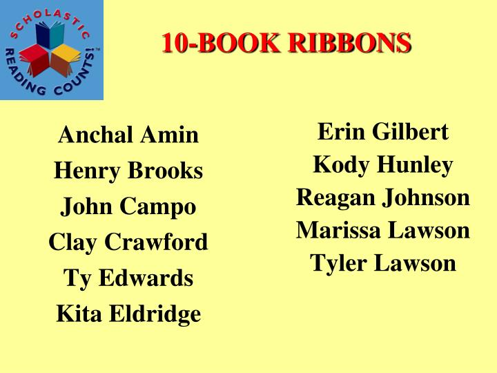 10-BOOK RIBBONS
