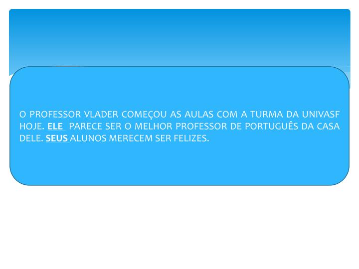 O PROFESSOR VLADER COMEÇOU AS AULAS COM A TURMA DA UNIVASF HOJE.