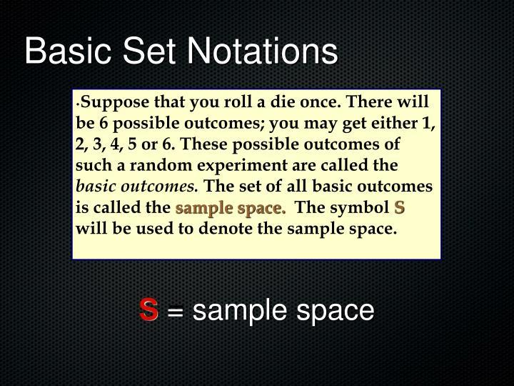 Basic Set Notations