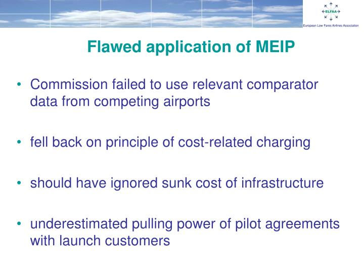 Flawed application of MEIP