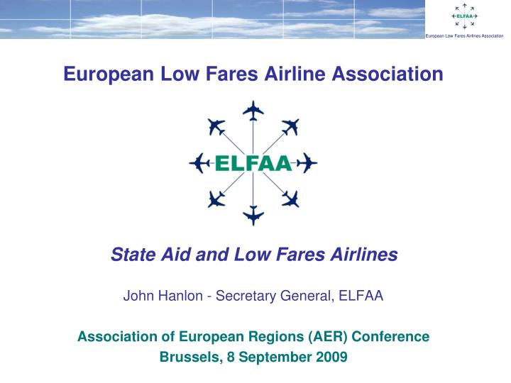 European Low Fares Airline Association