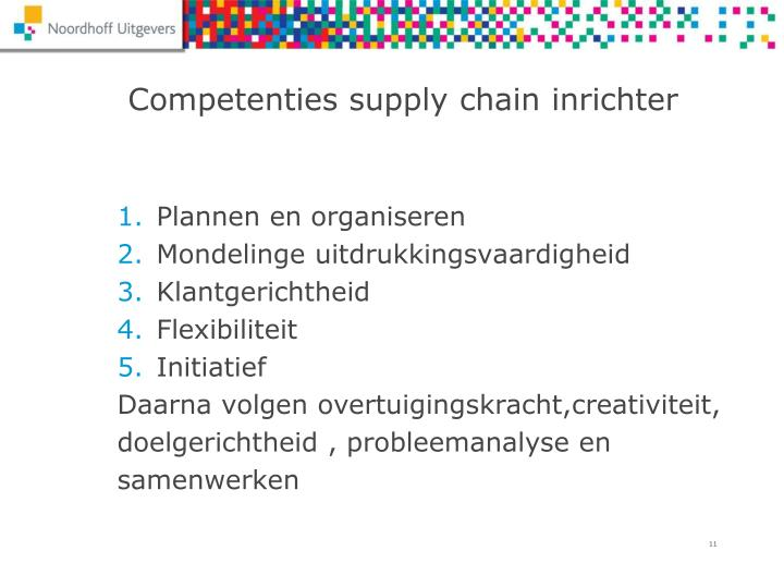 Competenties supply chain inrichter