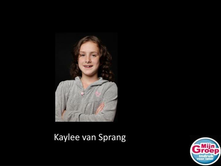 Kaylee van Sprang
