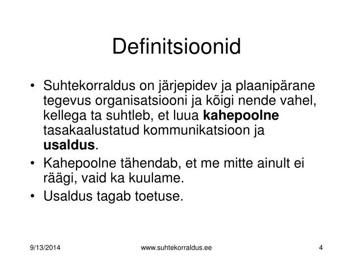 Definitsioonid