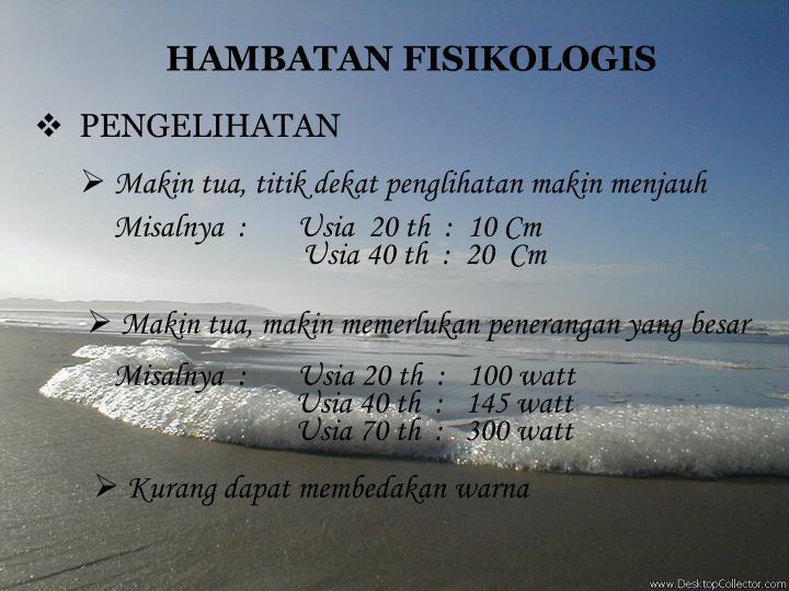 HAMBATAN FISIKOLOGIS