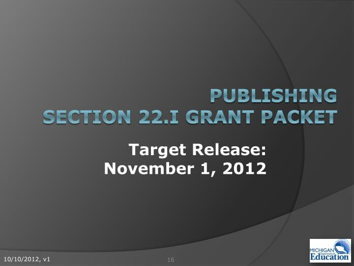 Target Release: