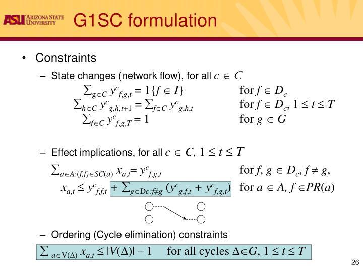G1SC formulation