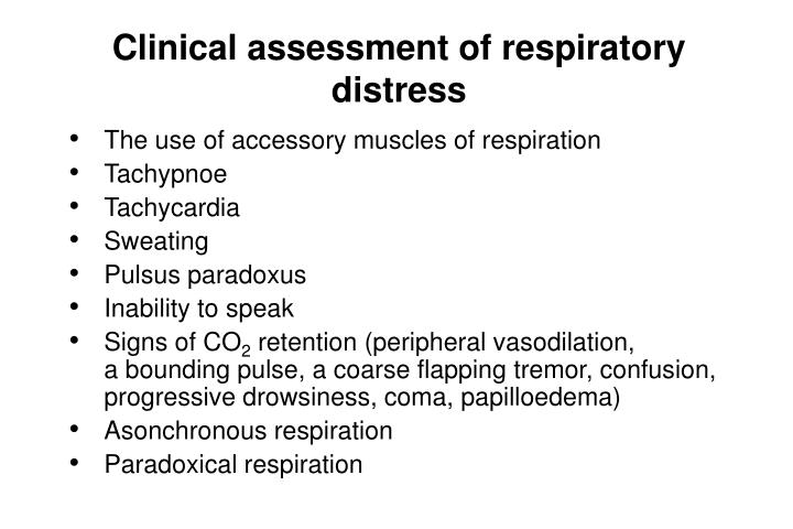 Clinical assessment of respiratory distress