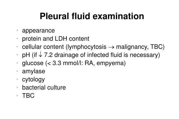 Pleural fluid examination