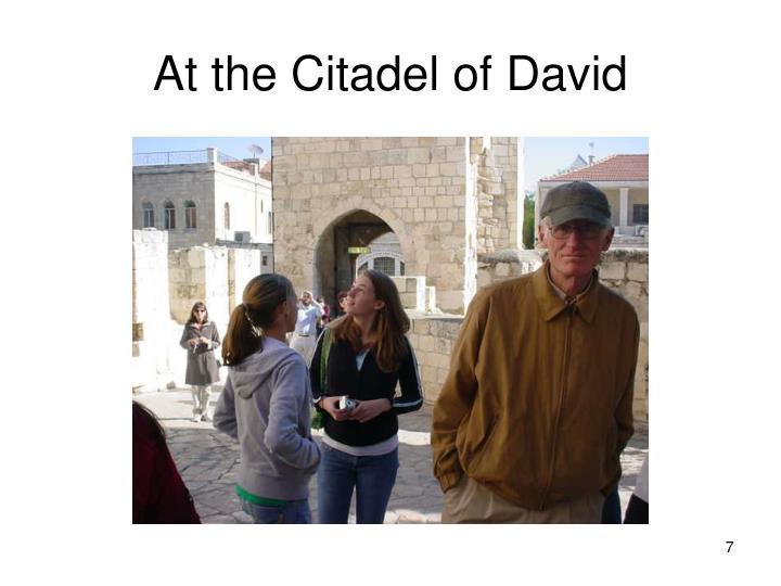 At the Citadel of David