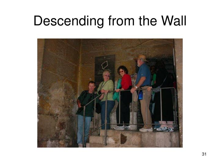 Descending from the Wall