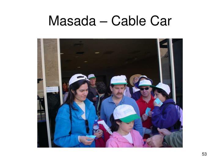 Masada – Cable Car