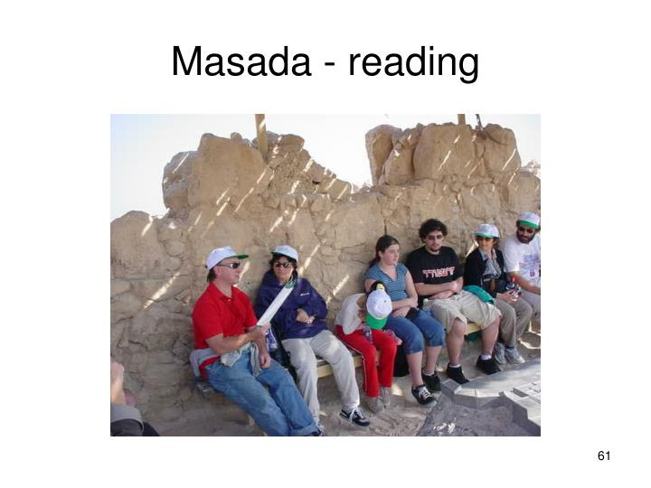 Masada - reading