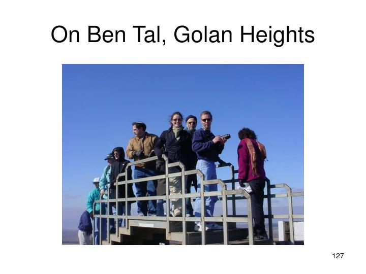 On Ben Tal, Golan Heights