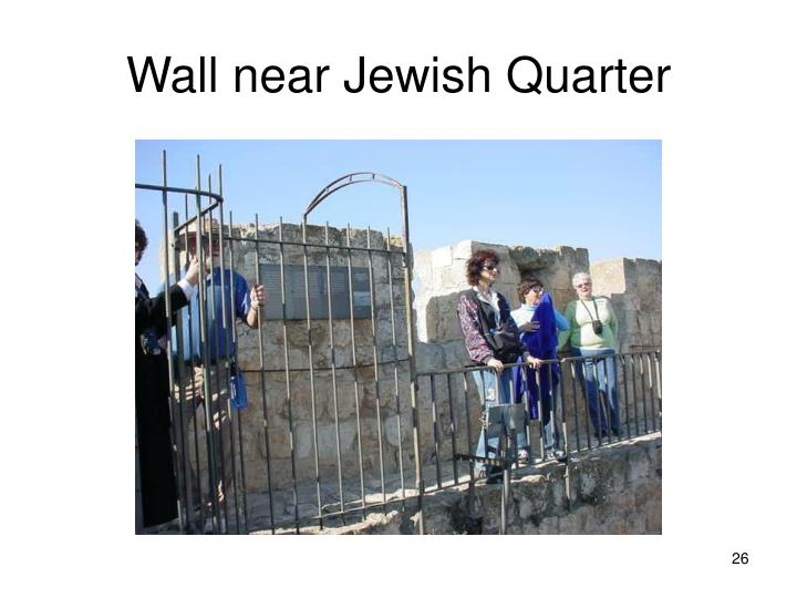 Wall near Jewish Quarter