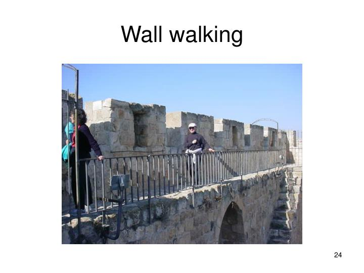 Wall walking