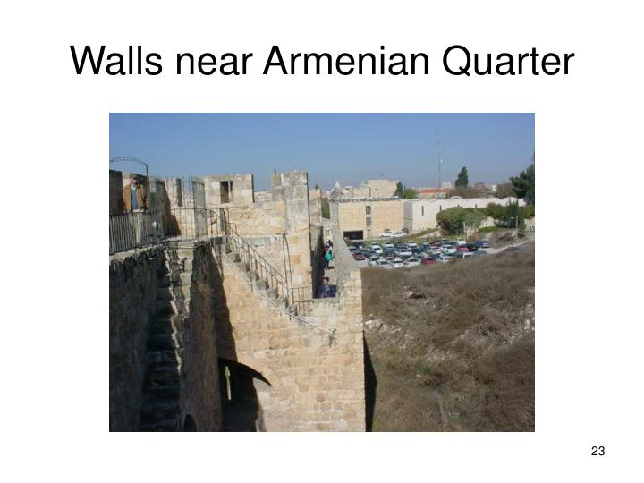 Walls near Armenian Quarter