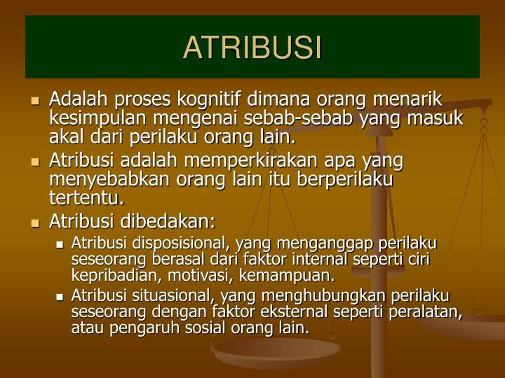 ATRIBUSI