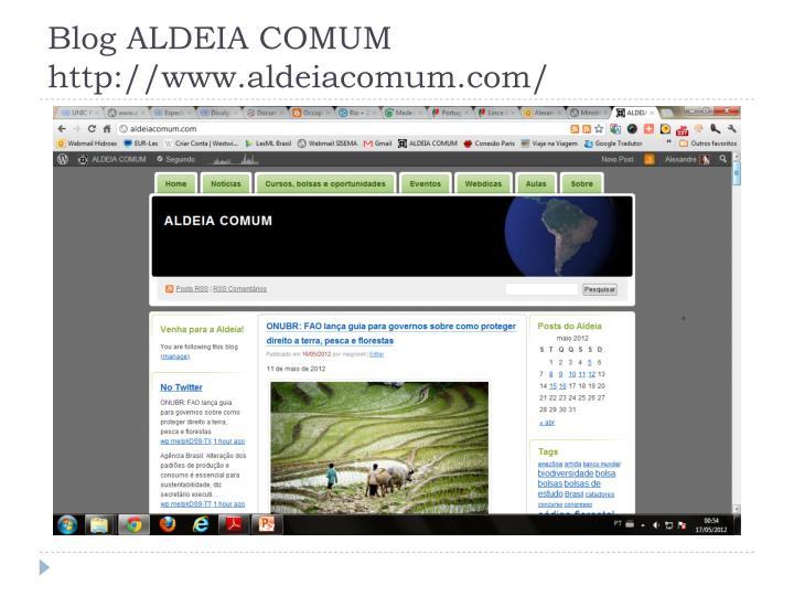 Blog ALDEIA COMUM